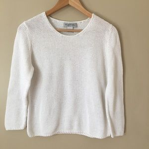Brooks Brothers White Pullover Crewneck Sweater